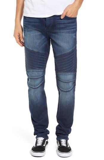 True Religion Brand Jeans Rocco Biker Skinny Fit Jeans, Blue