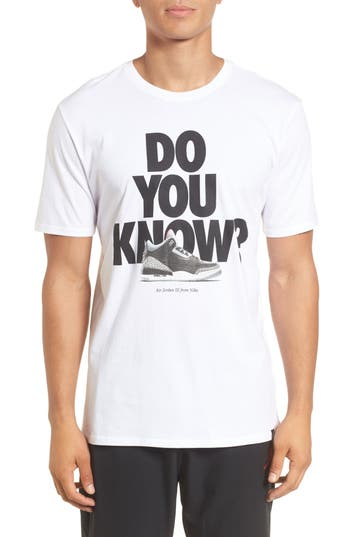 Nike Jordan Do You Know Graphic T-Shirt, White