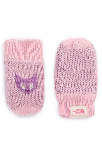 Infant The North Face Faroe Knit Mittens, Pink