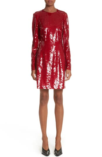 Stella Mccartney Katie Sequin Dress, US / 42 IT - Red