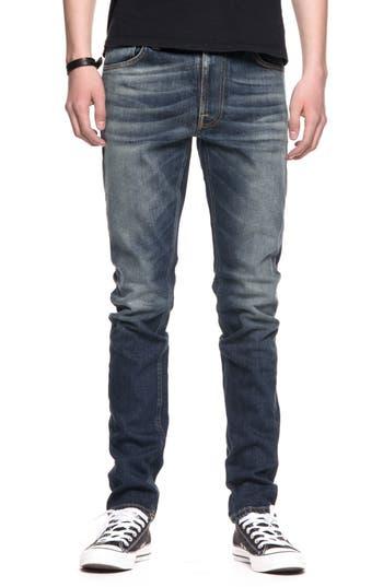 Nudie Jeans Lean Dean Slouchy Slim Fit Jeans, Blue