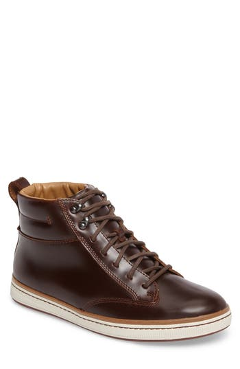 Clarks Norsen Mid Water Resistant Plain Toe Boot With Faux-Fur Lining, Brown