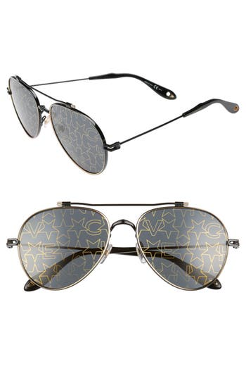 Givenchy 5m Aviator Sunglasses - Black Gold