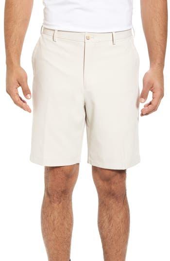 Mens Big  Tall Peter Millar Salem Flat Front Performance Shorts Size 44  Beige