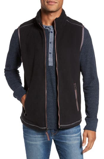 Men's True Grit Bonded Fleece Zip Front Vest, Size Small - Black