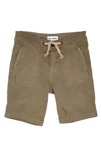 Boys Dl1961 Jax Utility Shorts Size 8  White