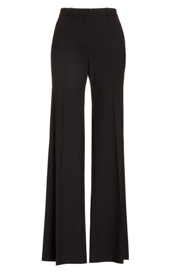 Theory Demetria 2 Flare Leg Good Wool Suit Pants, Black