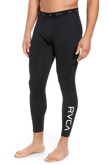 Rvca Va Sport Compression Pants, Black