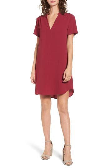 Hailey Crepe Dress, Burgundy