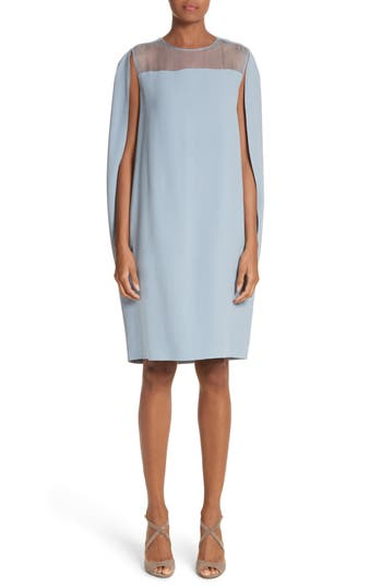 Max Mara Sospiro Cape Shift Dress, Blue