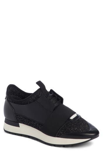 Balenciaga Lace-Up Sneaker, Black