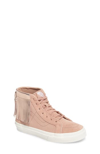 Girls Vans Sk8Hi Moc Sneaker Size 2 M  Metallic