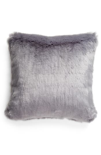 Nordstrom At Home Cuddle Up Faux Fur Pillow, Size One Size - Blue