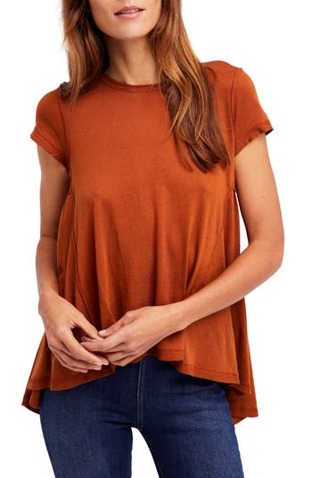 Women's Free People It's Yours Tee, Size X-Small - Brown