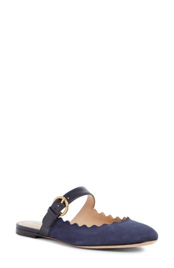 Chloe Lauren Strappy Mule, Blue