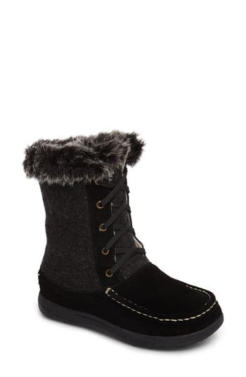 Woolrich Doe Creek Ii Faux Fur Trim Boot, Black