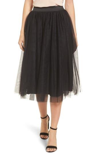 Halogen® Tulle Midi Skirt