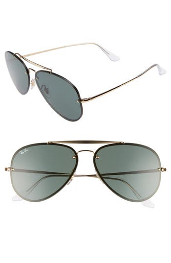 Ray-Ban 61Mm Gradient Lens Aviator Sunglasses - Gold