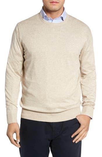 Peter Millar Crown Soft Cotton & Silk Sweater, Beige