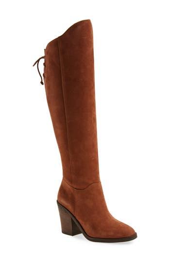 Lucky Brand Pembe Asymmetrical Boot, Brown