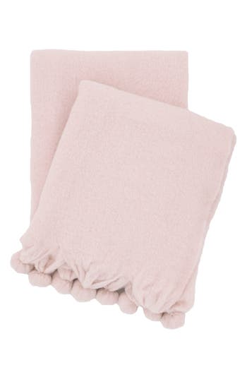 Pine Cone Hill Pompom Throw, Size One Size - Pink