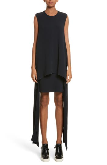 Stella Mccartney Stretch Cady Sharkbite Hem Dress, 4 IT - Blue