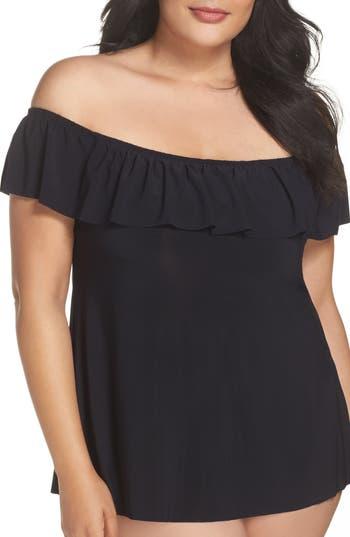 Plus Size Magicsuit Kris Tankini Top, Black