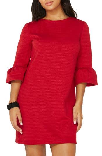 Dorothy Perkins Ruffle Sleeve Shift Dress, US / 8 UK - Red