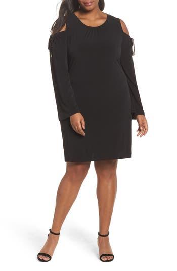 Plus Size Michael Michael Kors Cold Shoulder Shift Dress, Black