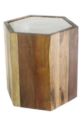 Homart Reclaimed Wood & Marble Table, Size One Size - Brown