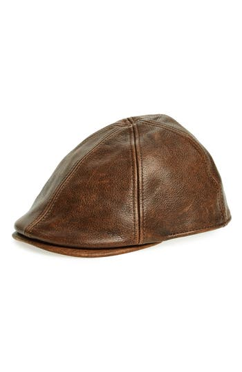 Goorin Brothers Fortunato Liberati Leather Driving Cap
