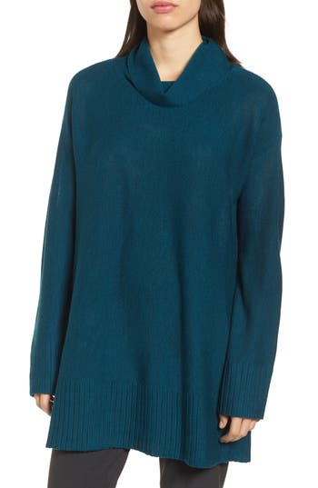 Eileen Fisher Merino Wool Tunic Sweater, Blue