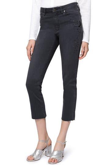 Sanctuary Robbie Raw Hem Skinny Crop Jeans, Black