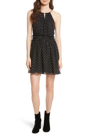 Joie Althia Metallic Print Fit & Flare Dress, Black
