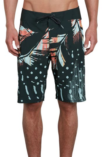 Volcom Flora Dot Mod Boardshorts, Grey