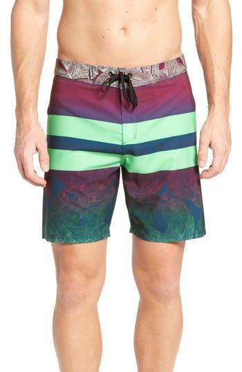Hurley Phantom Blackball Lush Board Shorts, Green