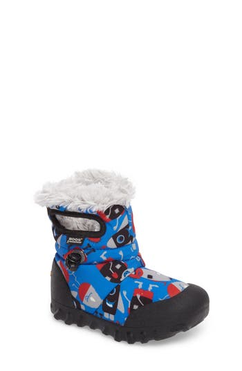 Toddler Boys Bogs BMoc Monsters Waterproof Insulated Faux Fur Winter Boot Size 11 M  Blue