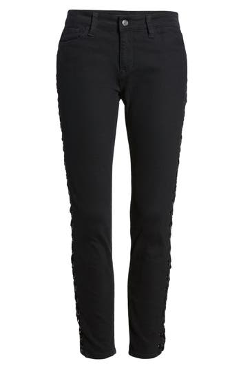 Mavi Jeans Adriana Lace-Up Super Skinny Jeans, Black