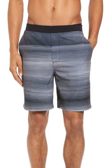 Hurley Alpha Trainer Stripe Shorts, Black