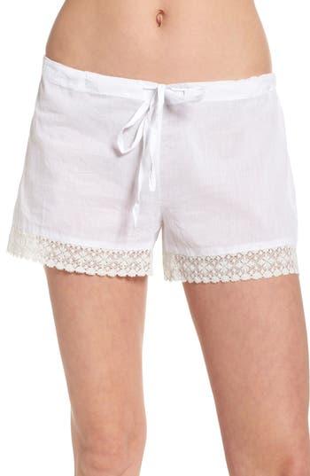 Women's Pour Les Femmes Lace Trim Sleep Shorts