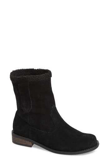 Sole Society Verona Faux Shearling Boot, Black