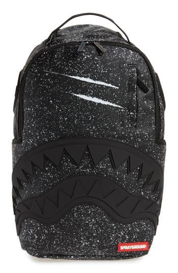 Men's Sprayground Party Shark Backpack - Black