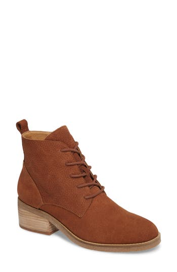 Lucky Brand Tamela Lace-Up Bootie, Brown