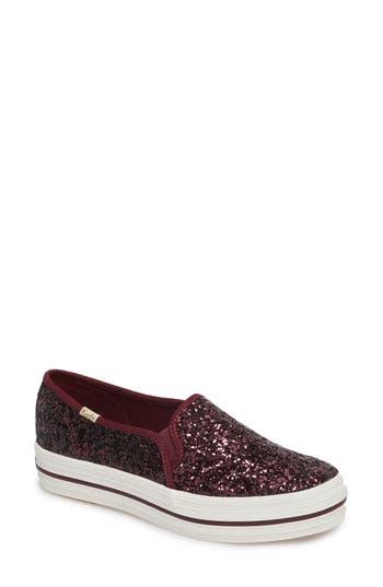 Keds For Kate Spade New York Triple Decker Slip-On Platform Sneaker, Burgundy