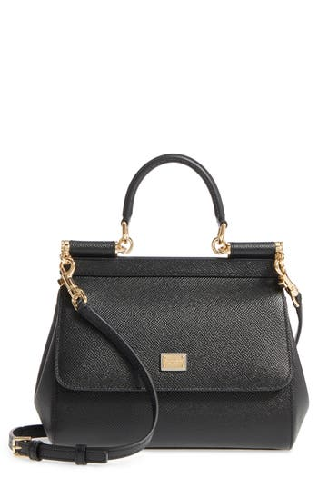 Dolce&Gabbana Small Miss Sicily Leather Satchel