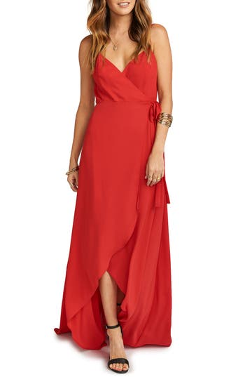 Women's Show Me Your Mumu Mariah Wrap Maxi Dress, Size XX-Small - Red