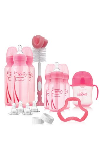 Infant Dr. Brown's Options Baby Bottle Gift Set, Size One Size - Pink