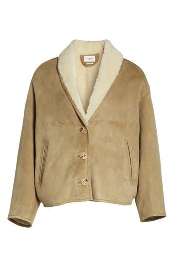 Isabel Marant Etoile Genuine Shearling Coat, 6 FR - Beige