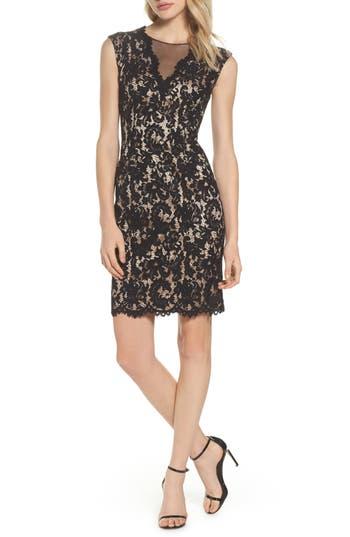 Vince Camuto Illusion Lace Sheath Dress, Black