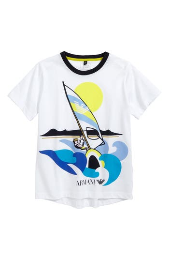 Boys Armani Junior Graphic TShirt